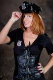 Beautiful woman comic police Royalty Free Stock Photos