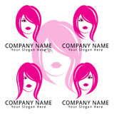 Beautiful Woman Concept Logo Royalty Free Stock Photography