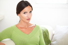 Beautiful woman with confidence looking at camera Royalty Free Stock Photo