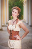Beautiful woman in the corset Royalty Free Stock Image