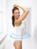 Beautiful woman in cotton underwear Royalty Free Stock Photo