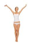 Beautiful woman in cotton undrewear Stock Photos