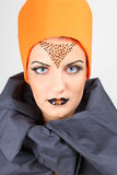 Beautiful woman with creative make-up Royalty Free Stock Photography