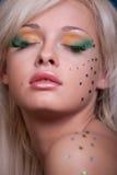 Beautiful woman with creative makeup Stock Image