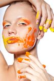 Beautiful woman with creative makeup Royalty Free Stock Image
