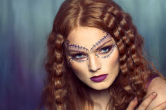 Beautiful woman in creative makeup Royalty Free Stock Photo