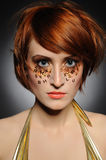 Beautiful woman with creative trendy make-up Royalty Free Stock Images