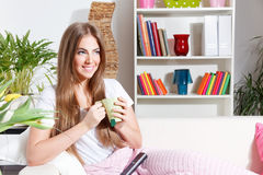 Beautiful woman with a cup of tea Royalty Free Stock Photography