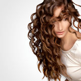 Curly Hair. High quality image. Royalty Free Stock Image