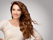Beautiful Woman with  Curly Hair Stock Photography