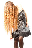 Beautiful woman with  curly long hairs Royalty Free Stock Photos