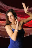The beautiful woman in dance Royalty Free Stock Photos