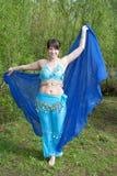 Beautiful woman dances on nature Arabic dances Royalty Free Stock Photos