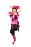 Beautiful woman dancing Stock Photography