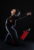 Beautiful woman dancing Stock Photos