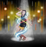 Beautiful Woman Dancing Royalty Free Stock Photo