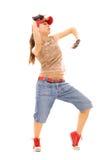 Beautiful woman dancing Royalty Free Stock Images