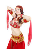 Beautiful woman dancing Stock Photo