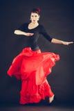 Beautiful woman dancing oriental dance. Royalty Free Stock Images