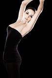 Beautiful woman dancing/posing Royalty Free Stock Photography