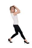 Beautiful woman dancing. Stock Photo