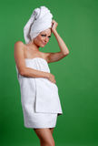 Beautiful woman in day spa Royalty Free Stock Image
