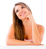 Beautiful woman daydreaming Royalty Free Stock Photo