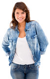 Beautiful woman in denim Royalty Free Stock Photos