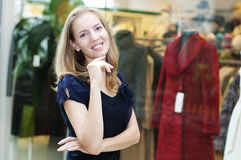 Beautiful woman in department store Royalty Free Stock Photos