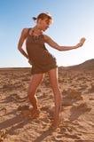 Beautiful woman in desert Royalty Free Stock Image