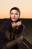 Beautiful woman in desert Royalty Free Stock Images
