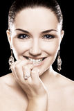 Beautiful woman diamond jewellery Royalty Free Stock Photo