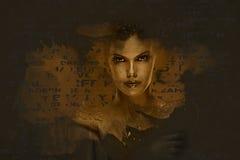 Beautiful woman. Digital art. Stock Photo