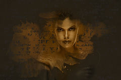 Beautiful woman. Digital art. Beautiful woman. Conceptual photo. Digital art Stock Illustration