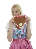 Beautiful Woman in Dirndl Royalty Free Stock Photography