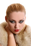 A beautiful woman in diva image Stock Photography