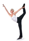 Beautiful woman do dance exercises Stock Photos