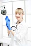 Beautiful woman doctor Stock Photos