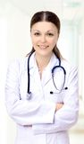 Beautiful woman the doctor Stock Photos