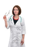 Beautiful woman doctor. Royalty Free Stock Photo