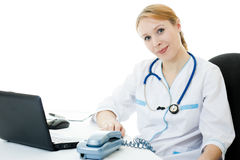 Beautiful woman doctor consultant Royalty Free Stock Photos