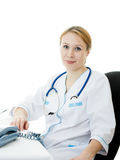 Beautiful woman doctor consultant Royalty Free Stock Image