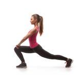 Beautiful woman doing exercise Stock Photos