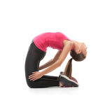 Beautiful woman doing exercise Stock Photo