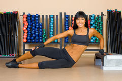 Beautiful woman doing exercises Royalty Free Stock Image