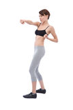 Beautiful woman doing fitness Stock Images