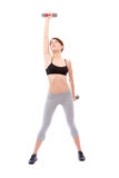 Beautiful woman doing fitness Royalty Free Stock Photography