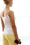 Beautiful woman doing fitness exercises Royalty Free Stock Image