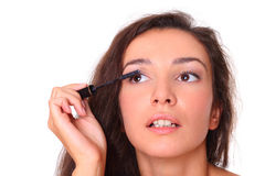 Beautiful woman doing make up Royalty Free Stock Image