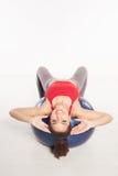 Beautiful woman doing pilates exercises Stock Photo
